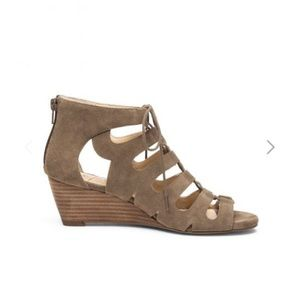Sole Society Lace Up Wedge Sandal